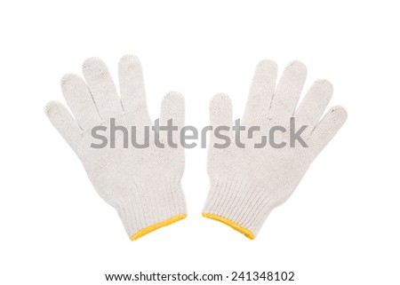Working gloves. Isolated on a white background. - stock photo