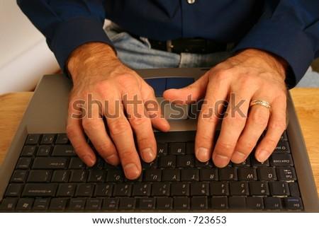 Working Hands - stock photo
