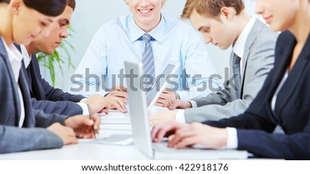Working in group - stock photo