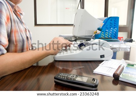 working man - stock photo