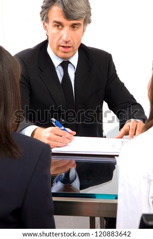 working meeting - stock photo