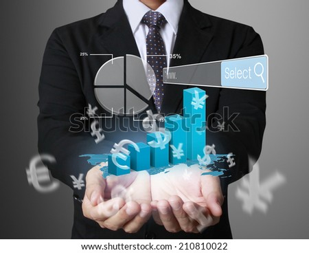 Working on a digital tablet ,Technology in the hands of businessmen  - stock photo