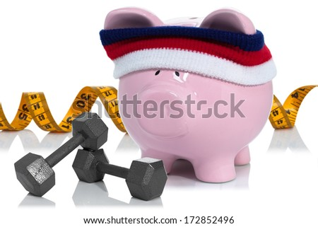 Working on building your savings and measuring it - stock photo