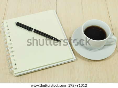 Working on  table - stock photo