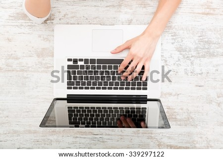 Working on the Laptop - stock photo