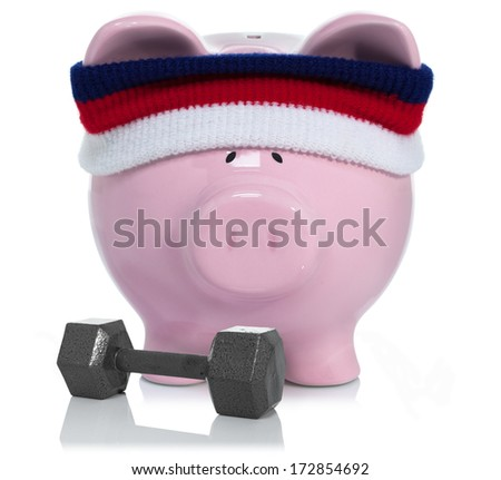 Working on your savings and building it - stock photo
