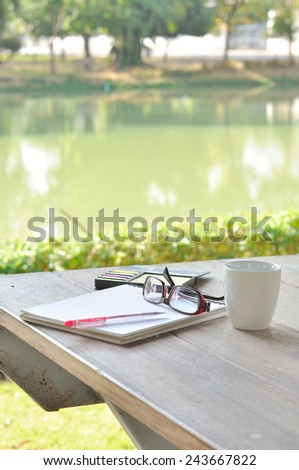 working out door - stock photo