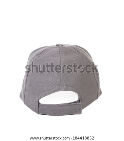Working peaked cap. Back view. Isolated on a white background. - stock photo