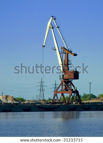 Working port cranes.