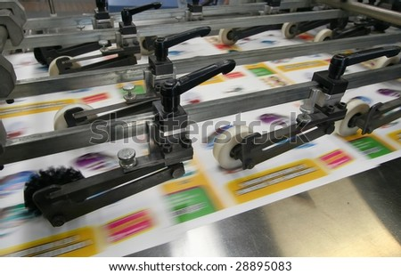 Working print machine - stock photo