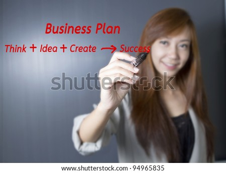 Working women with a strategy plan to be successful in her business.