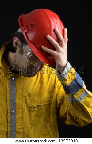 workman with tool close up - stock photo