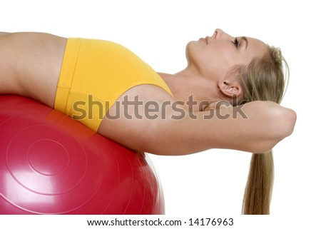 Workout Girl - stock photo