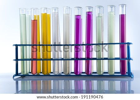Workplace modern laboratory for molecular biology test on white background - stock photo