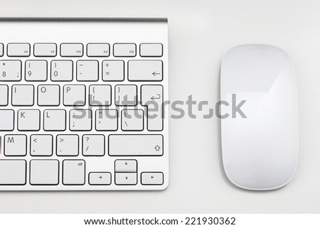 Workplace with keyboard and mouse - stock photo