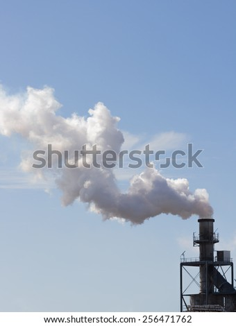 Works produced in an atmosphere of smoke - stock photo