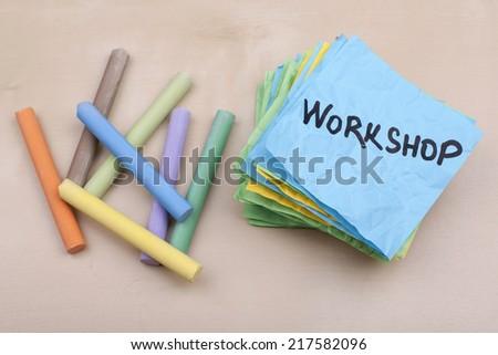 Workshop - stock photo