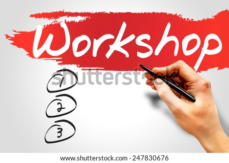 Workshop blank list, business concept - stock photo
