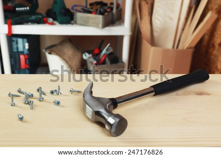 Workshop tools - stock photo