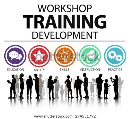 Workshop Training Teaching Development Instruction Concept - stock photo