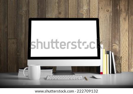 Workspace background - stock photo