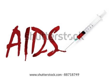 world AIDS day syringe - stock photo