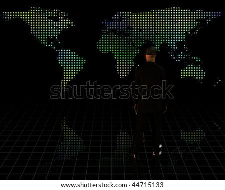 World and Man in Suit