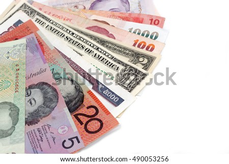 world banknote.concept of investment and business.