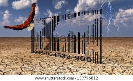 World Bar Code - stock photo