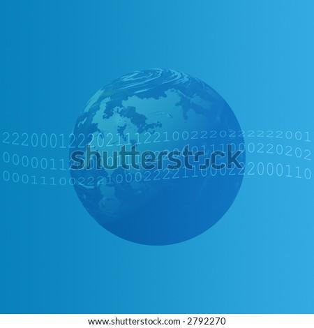 World Binary Data - stock photo