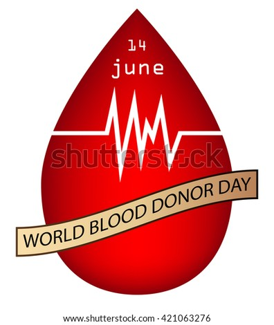 World blood donor day isolated white - stock photo