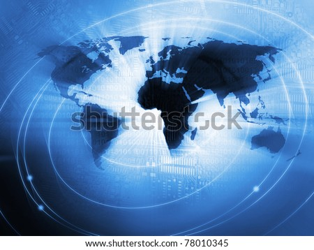 World Business Background - stock photo