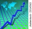 World business bar chart - stock vector