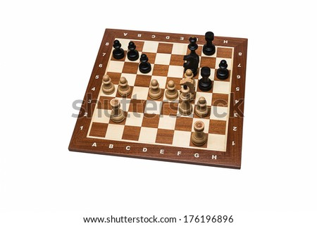 World Chess Champions - Max Euwe - Isolated. End position of the 30th game Euwe - Alekhine, 1935. Euwe became the fifth Undisputed World Chess Champion. - stock photo