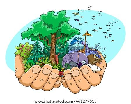 World Creation Stock Illustration 461279515 - Shutterstock