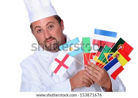 World cuisine chef - stock photo
