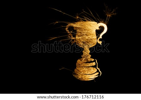 World Cup 2014 light painting stock photography - stock photo