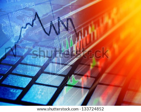 World economics. Finance concept. - stock photo
