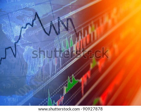 World economics. Finance concept. - stock photo