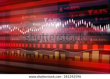 World economics graph. Stock market chart. Finance concept - stock photo
