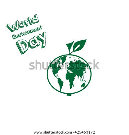 World Environment Day. The world inside the apple card.