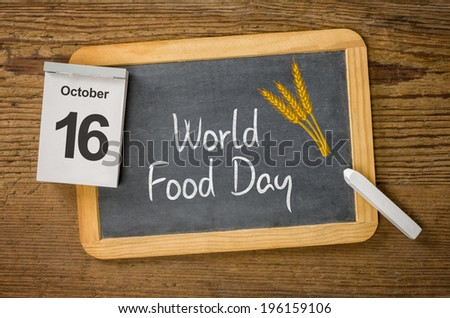 World Food Day, October 16
