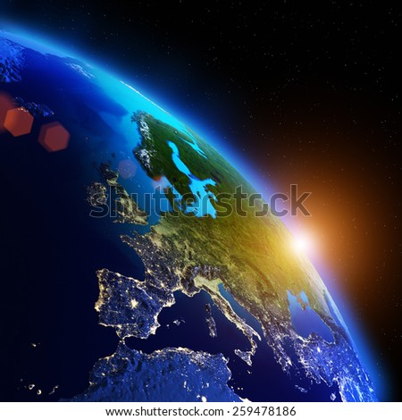 World geography. Elements of this image furnished by NASA - stock photo