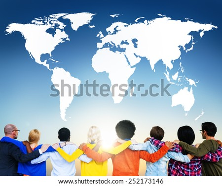 World Global Business Earth Globalization Concept - stock photo