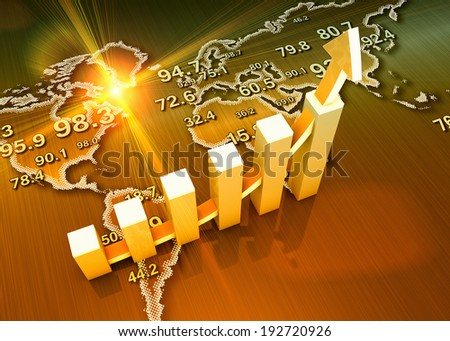 World global economic growth as concept - stock photo
