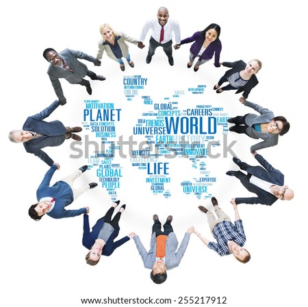 World Globalization International Life Planet Concept - stock photo