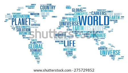 World Globalization International Life Planet Concept - stock photo