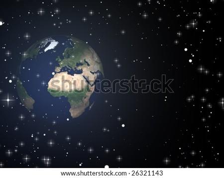world globe - stock photo