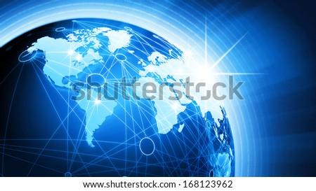 World Globe Background Concept - stock photo