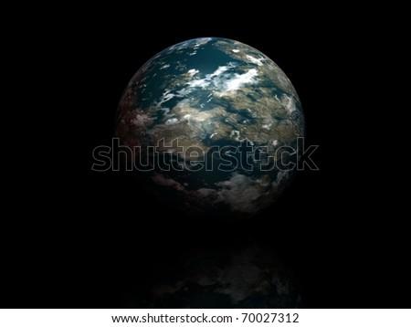 world globe isolated on black background - stock photo